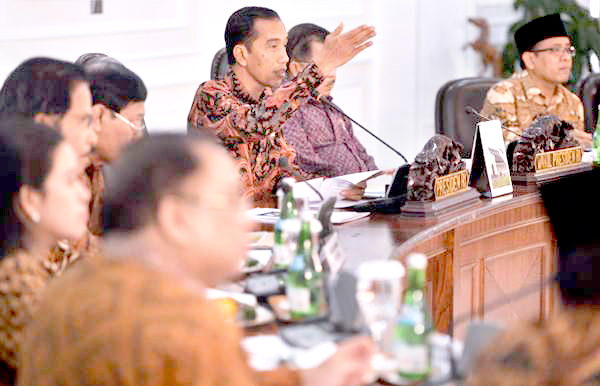 Rapat Kabinet Jokowi